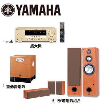 [福利品] YAMAHA音樂家藍光劇院組合 RXV461+NS8390+NSP60+SW030