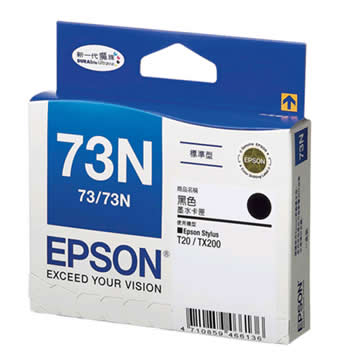 EPSON 73N黑色墨水匣(T105150)