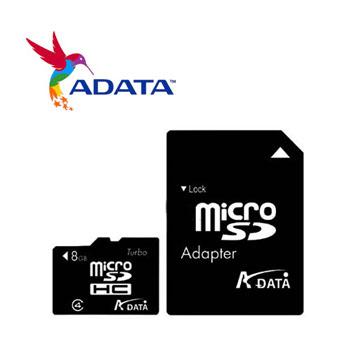 威剛 Micro SD記憶卡8B C2