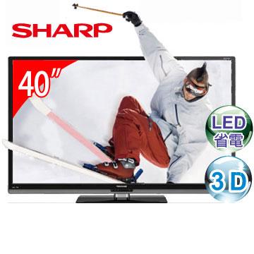 [福利品] SHARP 40型3D LED液晶電視 LC-40Z5T(LC-40Z5T)