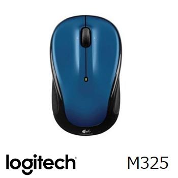 羅技 無線滑鼠M325-藍(910-002389)