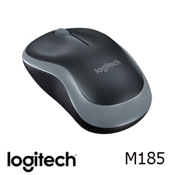 【燦坤限定】羅技無線滑鼠M185-黑灰色