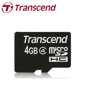 創見MicroSDHC 4GB C4記憶卡