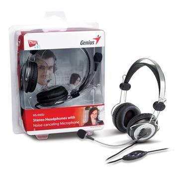 Genius 頭戴式抗噪立體聲耳機麥克風