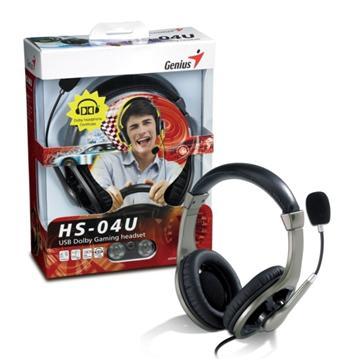 Genius 杜比音效遊戲USB頂級耳機(HS-04U)