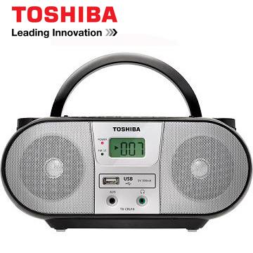 [福利品] 東芝USB手提CD音響  TX-CRU10TW