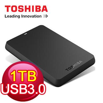 TOSHIBA 2.5吋 1TB行動硬碟(黑靚潮3.0)
