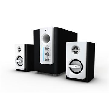 JS 天籟爵士-全木質三件式多媒體喇叭(白)