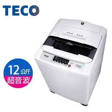 東元12公斤FUZZY智慧超音波洗衣機