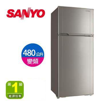 [福利品]三洋 480公升節能變頻雙門冰箱
