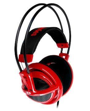 SteelSeries V1 電競專用耳機麥克風-炫彩紅(Siberia V1 炫彩紅)