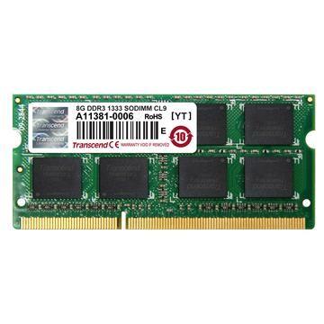 創見筆電用DDR3-1333 8GB(JetRam系列)
