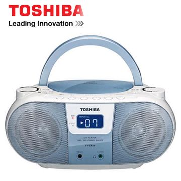 TOSHIBA MP3手提CD音響(藍色)   TX-CRM10TW(L)