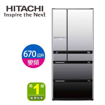 [福利品]HITACHI 670公升光觸媒美學六門變頻冰箱