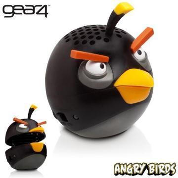 [福利品] Gear4 Angry Birds 炸彈鳥迷你重低音揚聲器PG779G(黑)