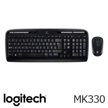 羅技R 無線滑鼠鍵盤組MK330