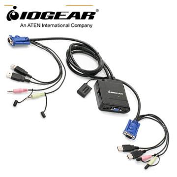 IOGEAR 2埠帶線式USB多電腦切換器