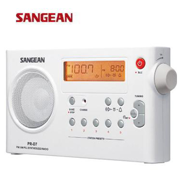 SANGEAN 二波段充電式收音機  PR-D7(白)