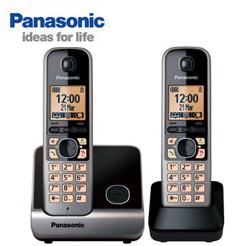 Panasonic國際牌中文顯示雙機數位無線電話 KX-TG6712TW