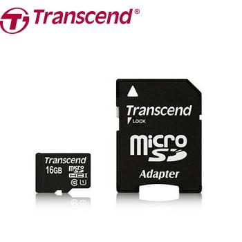 【U1】創見 Micro SD 16G C10記憶卡-附轉卡