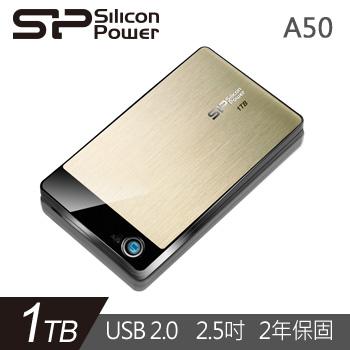 Silicon Power 2.5吋 1TB行動硬碟(A50金)