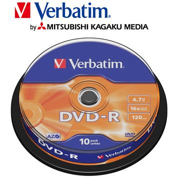 威寶Verbatim Spindle 16X DVD-R/10片桶裝