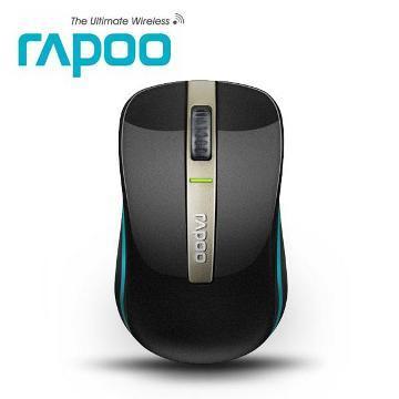 Rapoo雷柏6610 藍芽雙模無線光學滑鼠-黑藍(6610黑藍)