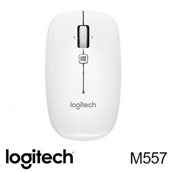 羅技 藍牙滑鼠 M557-珍珠白
