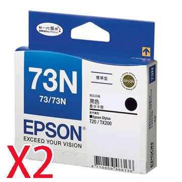 EPSON 73N黑色墨水匣*2顆
