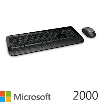 微軟無線滑鼠鍵盤組2000