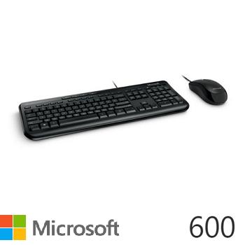 微軟標準滑鼠鍵盤組600(黑)