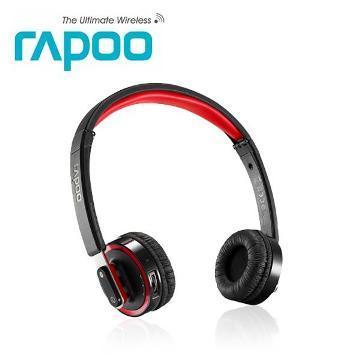 雷柏 H6080 藍芽無線摺疊耳機麥克風-黑