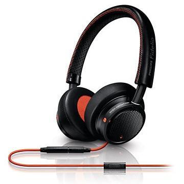 PHILIPS M1頭戴式耳機-橘黑