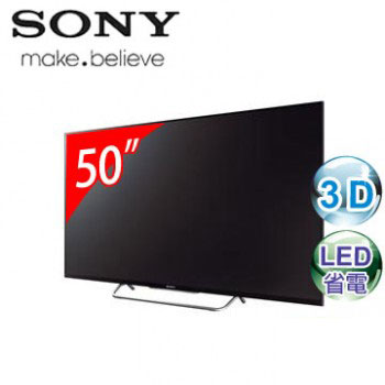 SONY 50型3D LED智慧型連網電視 KDL-50W800B