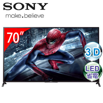 SONY 70型3D LED智慧型連網電視 KDL-70W850B