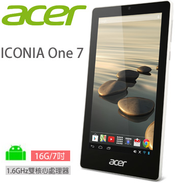 ACER ICONIA One 7 16G-WIFI 平板電腦 (黑)