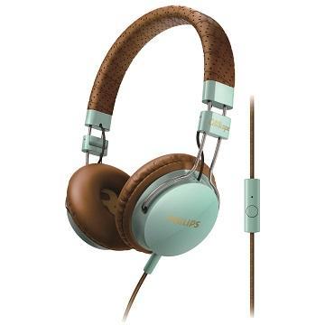 PHILIPS SHL5505頭戴式耳機麥克風-藍棕