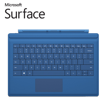 微軟Surface Pro 3 實體鍵盤 (青藍)