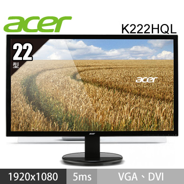 ACER 22型LED液晶顯示器