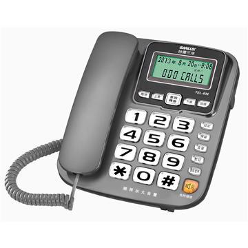 台灣三洋SANLUX助聽功能有線電話 TEL-832