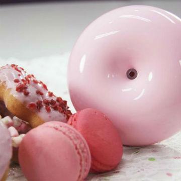 TickTock 馬卡龍甜甜圈香氛水氧機-蜜糖粉