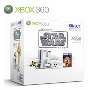 XBOX360 Kinect星際大戰限量主機同捆(320G)+XBOX360 體感嘉年華