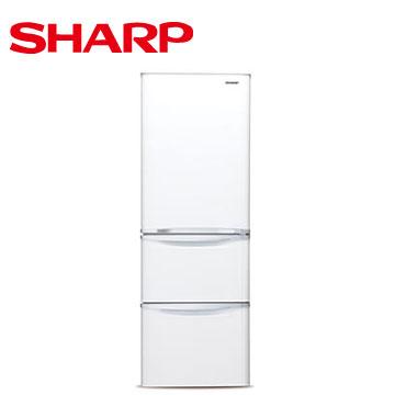 【福利品 】SHARP 380公升1級變頻三門電冰箱(晶亮白)