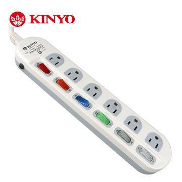 KINYO 六開六插安全延長線