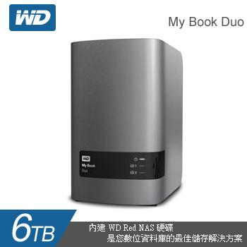 WD 3.5吋 Duo 6TB 雙硬碟雲端儲存