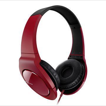 Pioneer 耳罩式耳機 SE-MJ721-紅