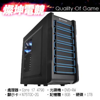 燦坤 鼎天戰將 Ci7 240GB SSD 四核獨顯