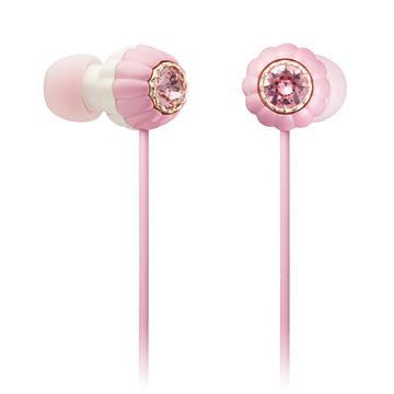 日立Maxell施華洛世奇水鑽耳塞式耳機-粉紅