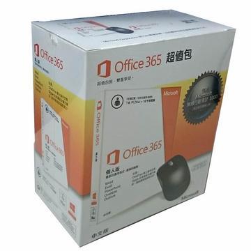 Office365 中文個人版無DVD一年訂閱-含滑鼠