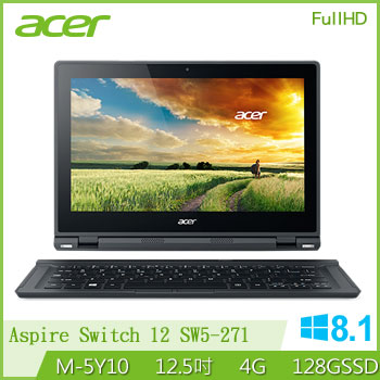 ACER 2 in 1 FHD變形平板筆電腦 Aspire Switch 12